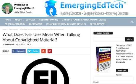 What Does 'Fair Use' Mean When Talking About Copyrighted Material? | Emerging Education...