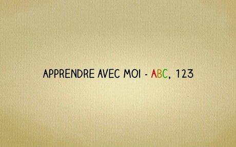 YouTube Channel - apprends avec moi - ABC123 en français