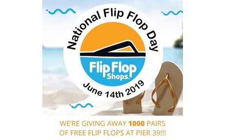 Flip Flop Shops to Give Away 1,000 Pairs of Free Flip Flops at PIER 39 on June 14