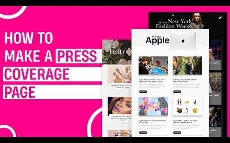 How to Create a Press Mentions Page
