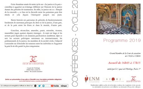 Conférence : «Les raisons du renouveau de la conciliation et de la médiation dans nos ...