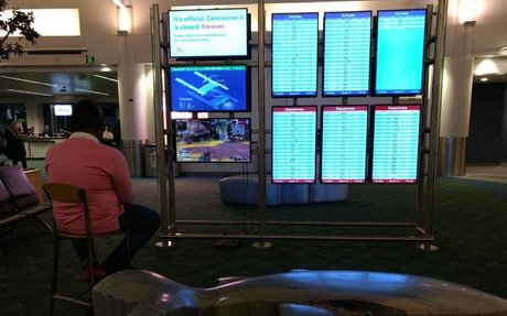 A man took over an airport monitor to play video games until officials told him 'game o...