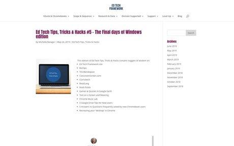 Ed Tech Tips, Tricks & Hacks #5 – The Final days of Windows edition | Ed Tech Framework