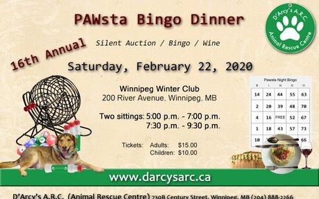 D'Arcy's Animal Rescue Centre - Pawsta Dinner Fundraiser 2020