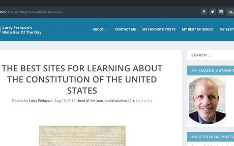 The Best Sites For Learning About The Constitution Of The United States