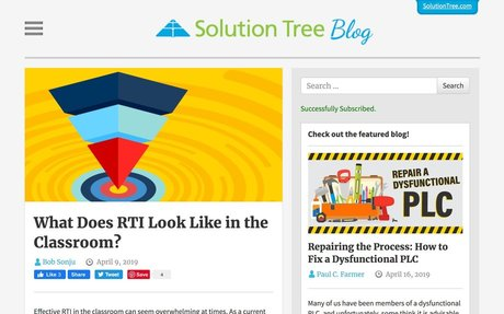 What Does RTI Look Like in the Classroom? | Solution Tree Blog
