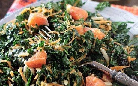 Kale, Orange, & Almond Salad
