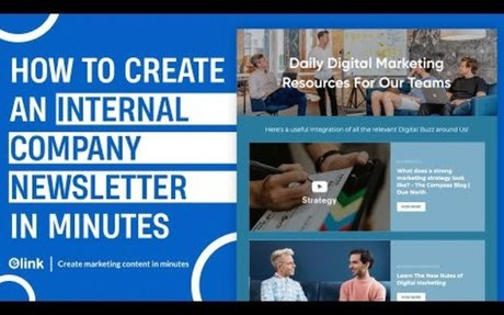 How to Create an Internal Company Newsletter