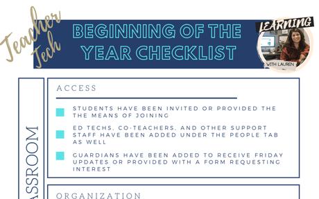 Free Google Classroom Checklist!