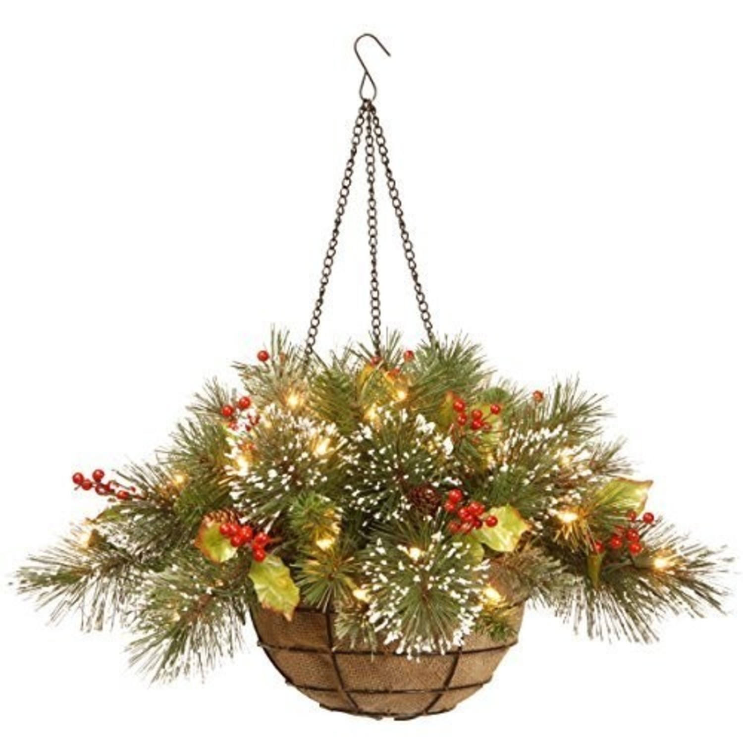 Christmas Hanging Baskets With Lights.Battery Operated Christmas Hanging Baskets With Led Lights